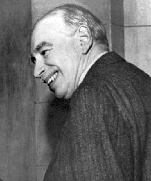 The famous British economist, John Maynard Keynes.