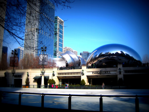 Ice Skating Rink, The Bean & Pavilion