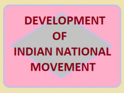 Development of Indian National Movement
