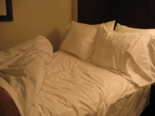 A more comfortable duvet or pillow can give you a better night's sleep.