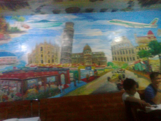 Wall at Bellini's Cubao Branch