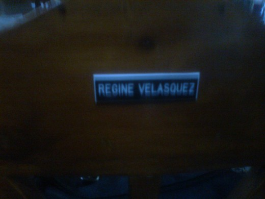 The Chair where Regine Velasques Alcasid seated every time she visits Bellini's Cubao Branch