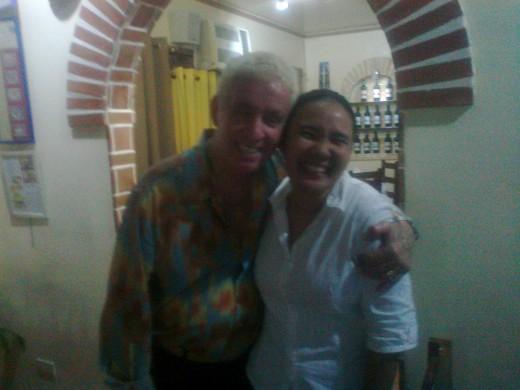 My friend with Mr. Bellini's