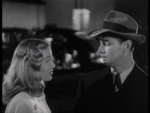 Veronica Lake and Alan Ladd.