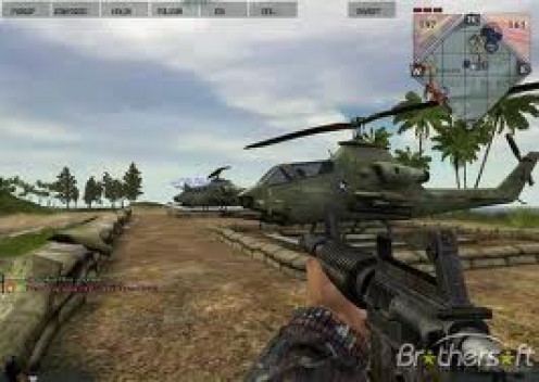 Battlefield: Vietnam is a great war game that features combat on ground, water and land. The tanks, ships and helicopters are very cool.