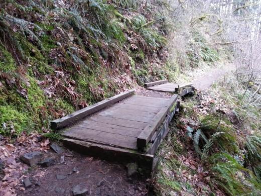 A bridge on the trail.