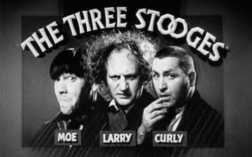 The Three Stooges was the first slap stick comedy to succeed on television. The characters were Moe, Larry and Curly.