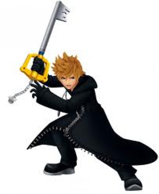 Roxas. Once again: blonde, spiky-haired sword weilder