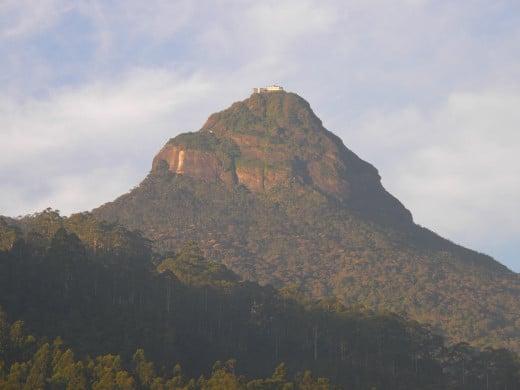 Adam's Peak as viewed from Dalhousie village by day