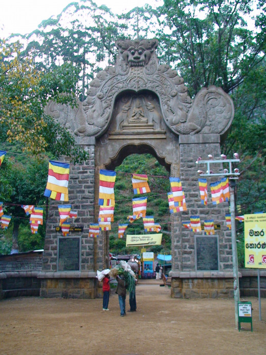 Makara Torana arch near the start of the climb