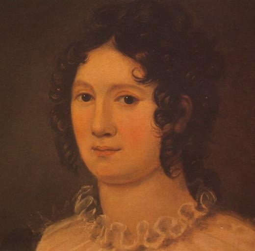 1819 portrait of Claire Clairmont by Amelia Curran