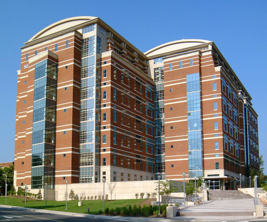 The Louis Stokes Laboratories, Building 50, in Bethesda, Maryland houses some of the research labs of the National Cancer Institute. Some immunotherapy research is done here.