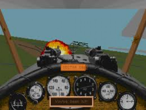 Red Baron was  a WWI video game. In this game you fight in the air strait from the cockpit.