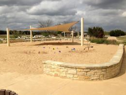 Discovery Sandpit play area -Champion Park - Cedar Park TX