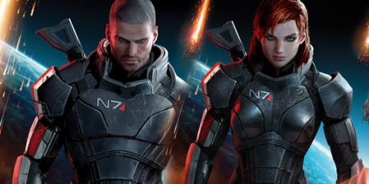 Male and Female Commander Shepard