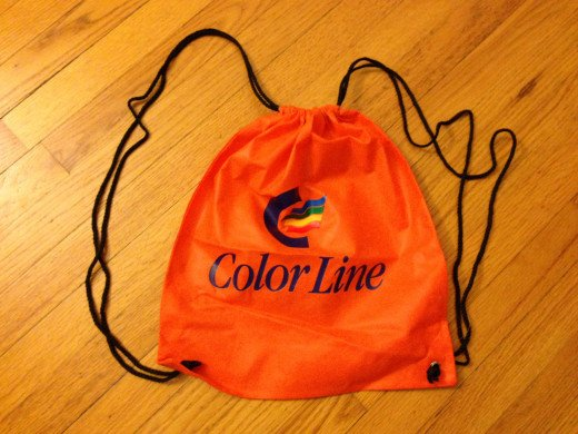 Drawstring backpack.