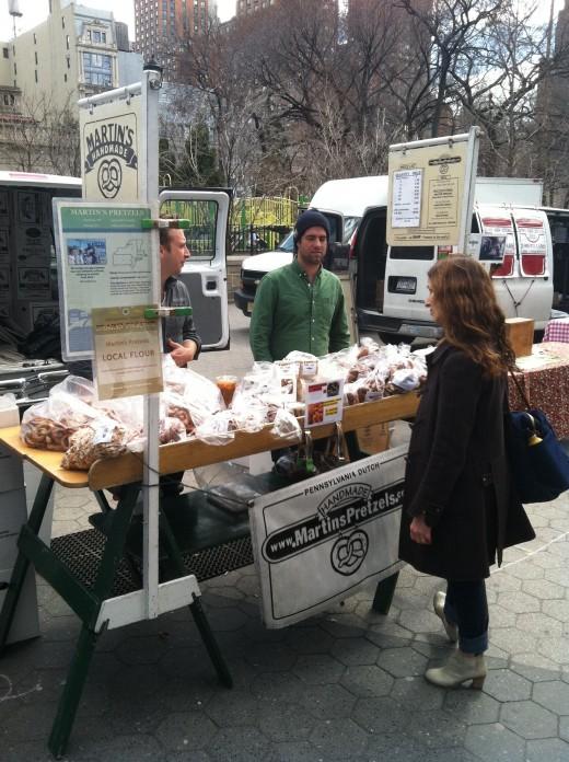 Union Square Greenmarket staple - Martin's Pretzels