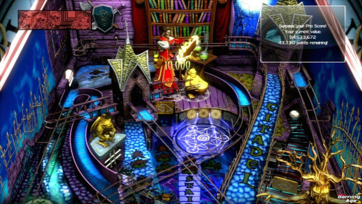 "an image of the ""Sorcerer's Lair"" downloadable table from Zen Pinball 2"