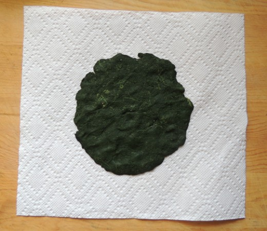 blot yet further on a paper towel