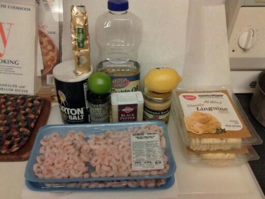 Needed Ingredients for Shrimp Scampi