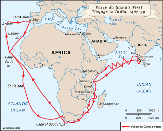 Vasco da Gama 1st Trip