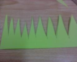 cut out grass strip