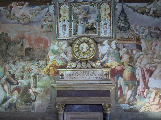 Fresco in the Sala dell'Udienza, Palazzo Vecchio, Florence, Italy