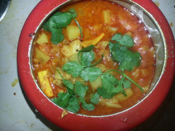 Mix Veg Curry Delight, with Cabbage, Potato and Cottage Chesse