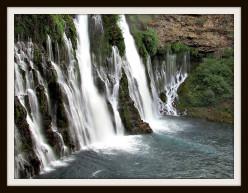 When the waterfall meets the cliff, a haiku