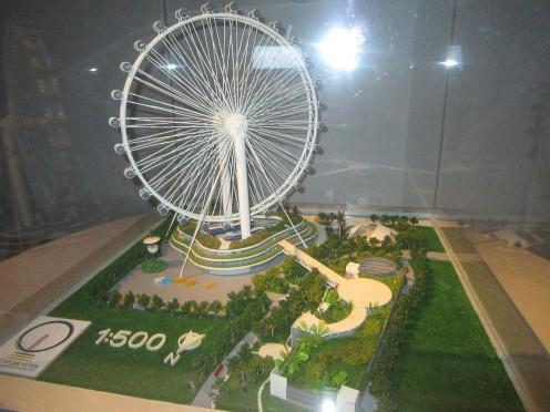 Singapore Flyer model