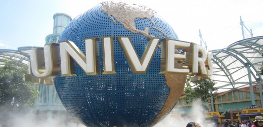 Part of attraction at Sentosa Island- Universal theme park