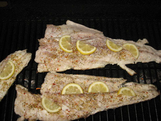Redfish on the grill