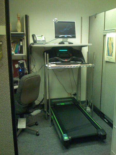 An example of a DIY treadmill desk/workstation.