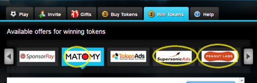 Step 5 the three highlighted sponsors offer plenty of videos to watch for tokens.