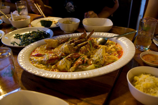 Thai Version of Crab Curry
