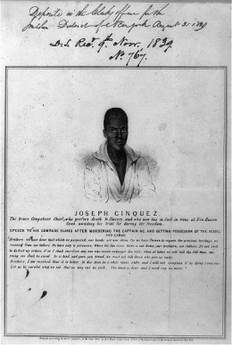 """Commissioned by the publisher of the New York """"Sun,"""" the print was described and advertised for sale in the account of the capture of the """"Amistad,"""" published in that newspaper's August 31, 1839 issue."""