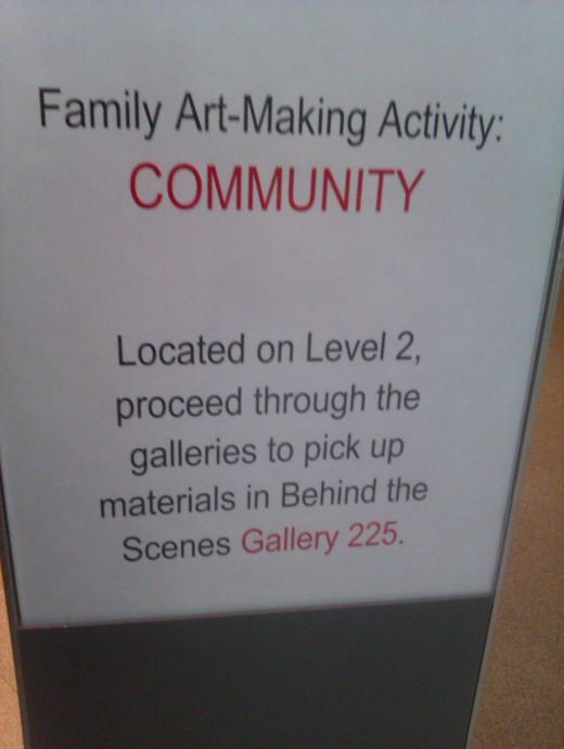 Family Art Making Activities are always planned at the MfA Boston during Open House days.