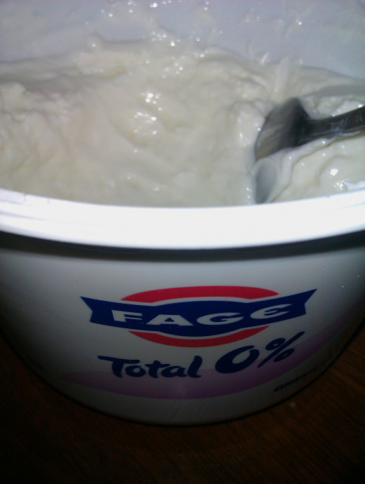 One brand of fat free Greek style yogurt. Another good one is Chobani. But, use your favorite!