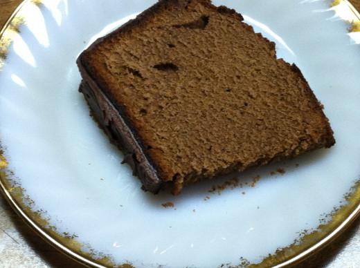 Slice of Chocolate Pound Cake