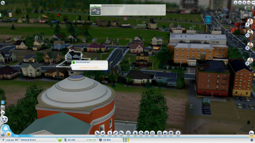 A little closeup of my second city, so you can see how it looks like in the beginning. Yes I already have a University... I kind of left the game on one day and got the income for it so I thought, why not