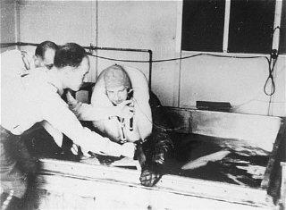 Nazi freezing experiments.