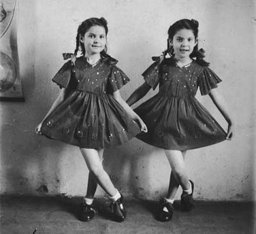 Twins possibly used for Nazi twin experiments.