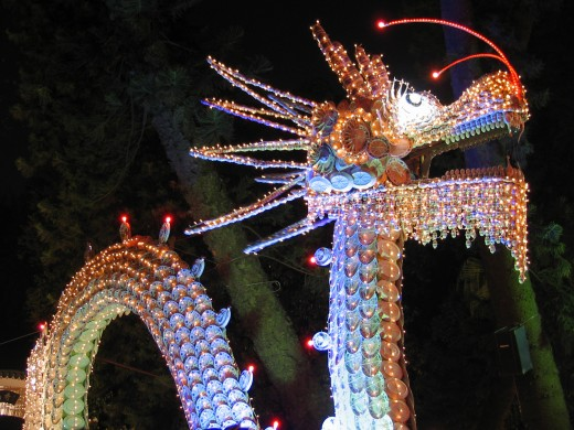 Dragon of lights