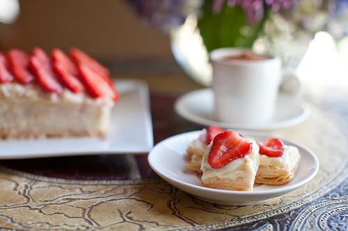 Strawberry Napoleon Cookies