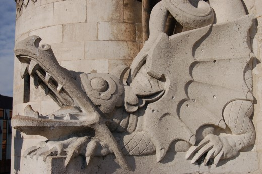Dragons are popular features on architecture.