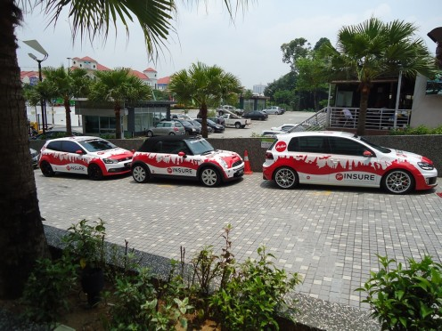 The Tune Cars chauffeuring us to Sepang from Tune Hotels Kota damansara
