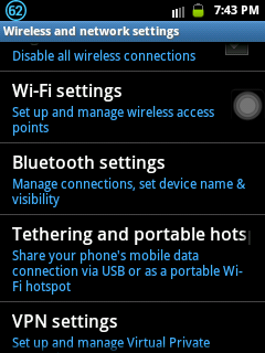 Wifi tethering option of GingerBread devices like Samsung Galaxy Y