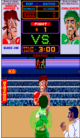 Note your boxer displayed in wire-frame for playability purposes in Punch Out