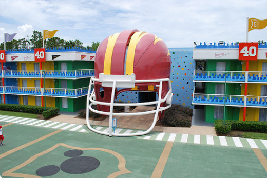 Disney's All Star Sports Resort courtyard
