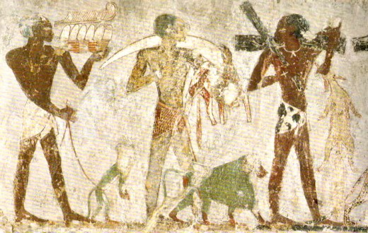 The history of mural paintings for Ancient egyptian mural